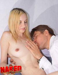 Blonde teen going to make love with her boyfriend